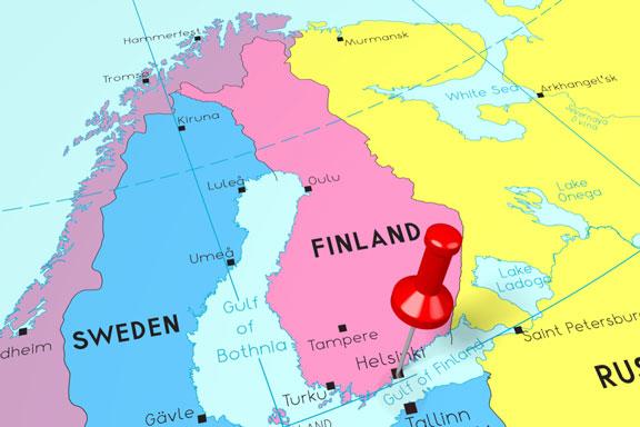 location of Helsinki, capital of Finland